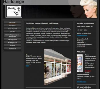 Hairlounge-Willich Referenz von Internetservice-Wirtz.de